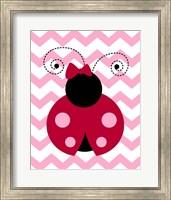 Ladybug Chevron Fine Art Print