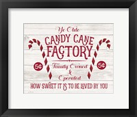 Candy Cane Factory Fine Art Print