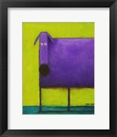 Purple Dog I Fine Art Print