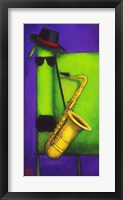 Sax Dog Fine Art Print