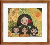 Mother Of Three Girls Fine Art Print