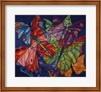 Dragonflies And Butterflies Fine Art Print