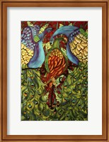 Three Peacocks Fine Art Print