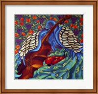 Peacock And Cello Fine Art Print