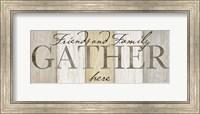 Family Gather Neutral Sign Fine Art Print