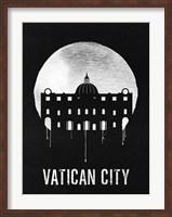 Vatican City Landmark Black Fine Art Print
