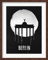 Berlin Landmark Black Fine Art Print