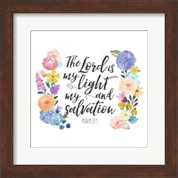 Floral Bible Verse II Fine Art Print