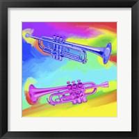 Pop Art Trumpets Fine Art Print