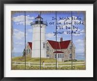 High Tide Lighthouse Fine Art Print
