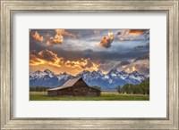 Moulton Barn Sunset Fire Fine Art Print