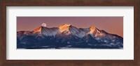 Mount Princeton Moonset at Sunrise Fine Art Print
