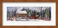 Winter Snowman Truck Fine Art Print