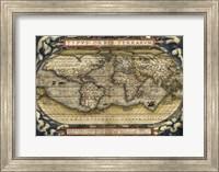 Cosmos-Ortelius World Map 1570 Fine Art Print