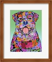 Flowers Rottweiler Fine Art Print