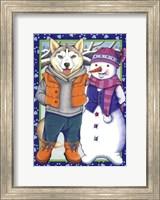 Husky Snowman Fine Art Print