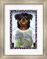 Rottweiler Dinosaur Fine Art Print