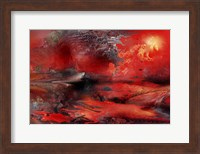 Volcano Planet Red Fine Art Print