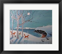 Winter Foxes Fine Art Print