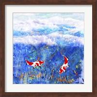 Red Twin Fish Fine Art Print