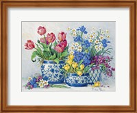Spring Garden in Blue I Fine Art Print
