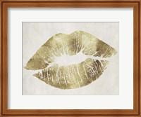 Hollywood Kiss Gold Fine Art Print