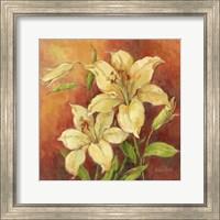 Crimson Lilies II Fine Art Print