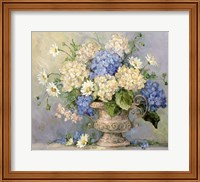 Blue and White Delight Fine Art Print