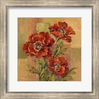 Terracotta Poppies Fine Art Print
