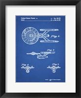 Blueprint Starship Enterprise Patent Fine Art Print