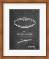 Chalkboard Football Game Ball Patent Fine Art Print