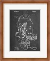 Chalkboard Football Leather Helmet 1927 Patent Fine Art Print