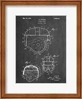Chalkboard Football Helmet 1925 Patent Fine Art Print