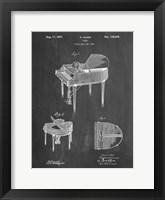 Chalkboard Wurlitzer Butterfly Model 235 Piano Patent Fine Art Print