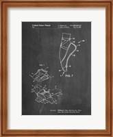 Chalkboard Ballet Shoe Patent Fine Art Print