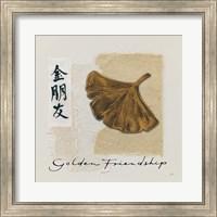 Bronze Leaf I Golden Friendship Fine Art Print