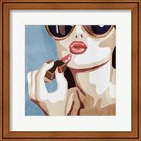Fashionable Kiss Fine Art Print