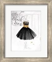 Little Black Gold Dress Fine Art Print