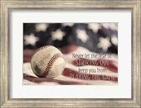 Baseball - Playing the Game Fine Art Print
