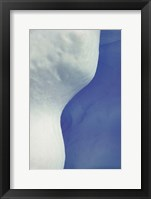 Abstract Blue & White Ice Fine Art Print