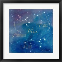 Star Sign Fire Fine Art Print