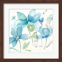Blue Poppy Field II Fine Art Print