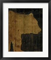 Rustic Lodge Animals Bear Fine Art Print