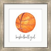 Sports Girl Basketball Fine Art Print