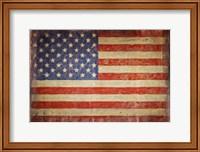 Vintage Flag on Barnwood Fine Art Print