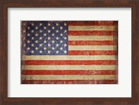 Vintage Flag on Barnwood Fine Art Print