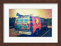 Beach Van at Sunset Fine Art Print