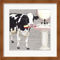 Bath time for Cows Sink Fine Art Print