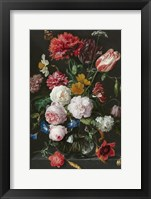 Abraham Mignon, Still Life with Flowers in a Glass Vase Fine Art Print