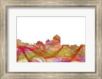 Albuquerque New Mexico Skyline - Summer Swirl Fine Art Print